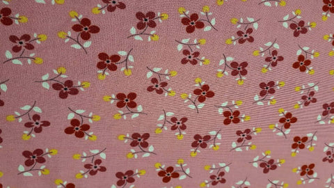 Cotton Fabric In Pink Florets Print - Christina's Fabrics - Online Superstore