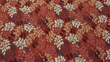 Cotton Fabric In Rust With Leaves Night Owls Collection - Christina's Fabrics Online Superstore