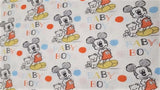 Cotton Fabric In White Mickey Mouse - Christina's Fabrics Online Superstore