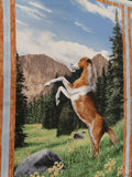 Cotton Fabric Roaming in the Wild Panel, Horse Bucking - Christina's Fabrics Online Superstore