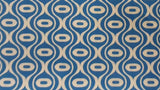 Cotton Fabric In Blue Print - Christina's Fabrics Online Superstore