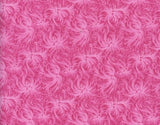 Cotton Fabric Rosebud Print In Flamingo Pink