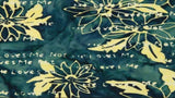Cotton Batik In Green and Yellow From The Collection - Daisy Chain Loves Me Not Flowers  - Christina's Fabrics Online Superstore