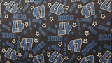 Flannel Fabric In Blue Print - Christina's Fabrics Online Superstore