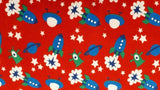 Flannel Fabric In Red Spaceships - Christina's Fabrics Online Superstore