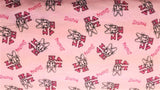 Flannel In Pink Daisy - Christina's Fabrics - Online Superstore