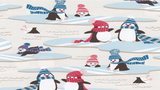 Flannel Fabric Penguins In Winter - Christina's Fabrics Online Superstore