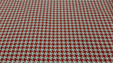 Cotton Fabric Houndstooth in White and Red - Christina's Fabrics Online Superstore