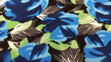 Knit Fabric In Royal & Black Floral - Christina's Fabrics - Online Superstore