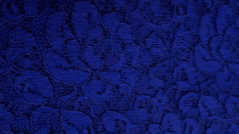 Lace Fabric With a Scallop Pattern In Blue - Christina's Fabrics Online Superstore