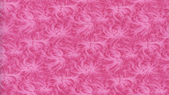 Cotton Fabric In Flamingo Pink with a Rosebud Pattern - Christina's Fabrics Online Superstore