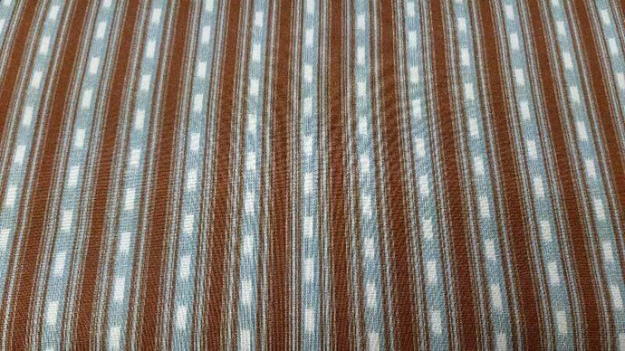 Cotton fabric in Blue and Brown Stripes - Christina's Fabrics Online Superstore
