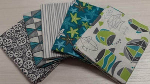 Cotton Fabric Fat Quarter Bundle Sea Life - Christina's Fabrics Online Superstore
