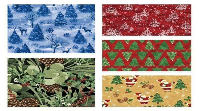 Fat Quarter Flannel Bundle Pine - Christina's Fabrics Online Superstore