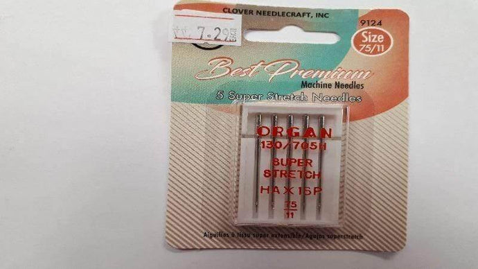 Sewing Machine Needles- Super Stretch 75/11 - Christina's Fabrics Online Superstore