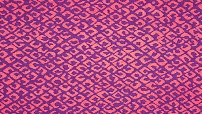 Batik Fabric In Pinkish/Purple Color Blocking - Christina's Fabrics Online Superstore