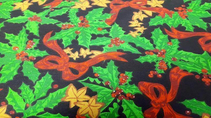Cotton Fabric Christmas Holly - Christina's Fabrics Online Superstore