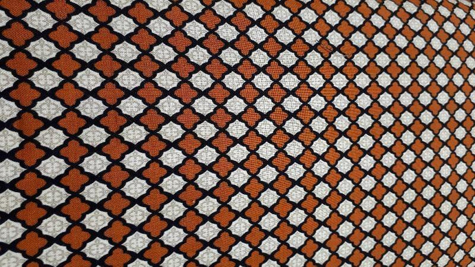 Cotton Fabric In Brown Diamond Print - Christina's Fabrics - Online Superstore