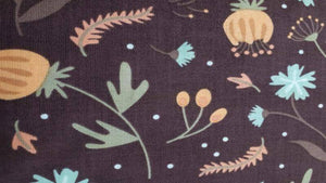 Cotton Fabric In Brown With Floral Pattern - Christina's Fabrics - Online Superstore