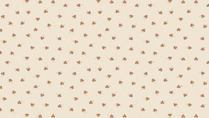 Cotton Fabric In Cream - Clovers Cotton Christina's Fabrics - Online Superstore