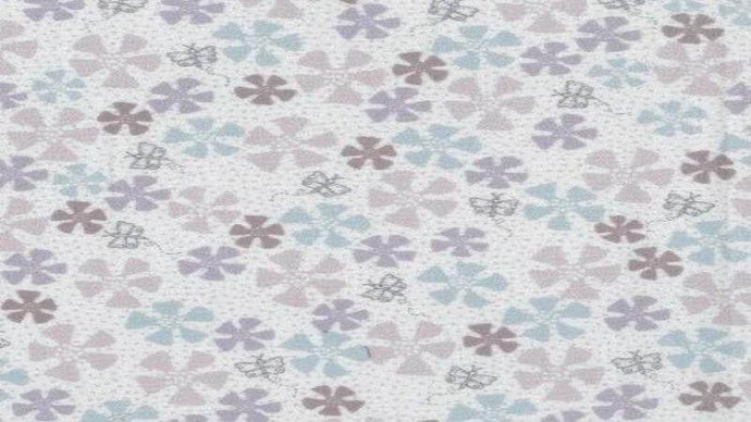 Cotton Fabric In Cream Dancing in the Blossom - Lecien Fabrics -- Christina's Fabrics Online Superstore