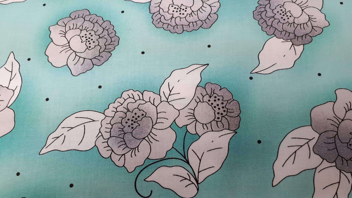Cotton Fabric In Green Floral Cotton Prints Christina's Fabrics - Online Superstore