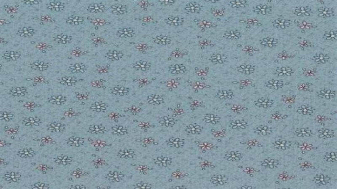 Cotton Fabric In Light Green With Tiny Flowers - Christina's Fabrics Online Superstore