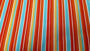 Cotton Fabric In Multi-Colored Stripes Cotton Prints Christina's Fabrics - Online Superstore