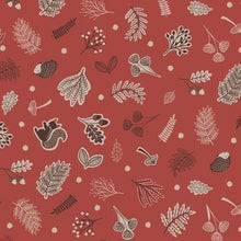 Load image into Gallery viewer, Cotton Fabric In Nut Brown - Under The Oak Tree Cotton Christina's Fabrics - Online Superstore