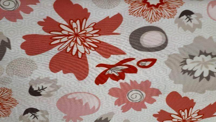Cotton Fabric In Pink/Red Floral Pattern Cotton Prints Christina's Fabrics - Online Superstore