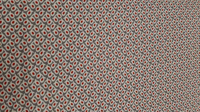 Cotton Fabrics In Grey With Small Red Dots Cotton Christina's Fabrics - Online Superstore