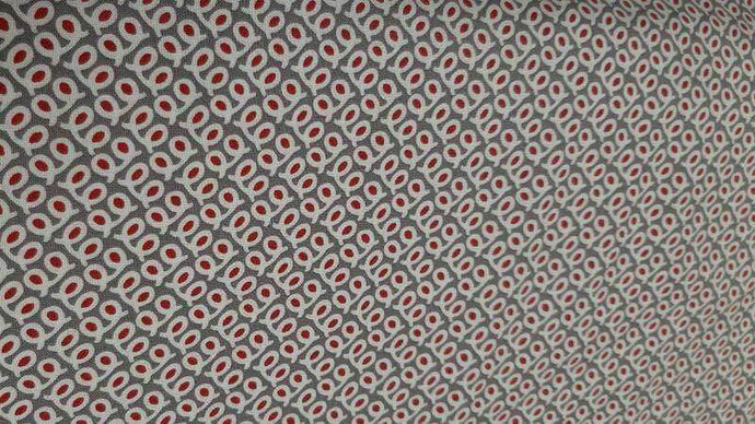 Cotton Fabrics In Grey With Small Red Pattern Cotton Christina's Fabrics - Online Superstore