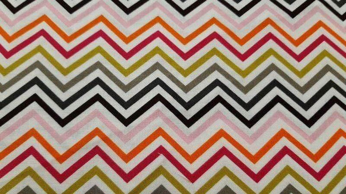 Cotton Fabric In Chevron Print - Christina's Fabrics Online Superstore