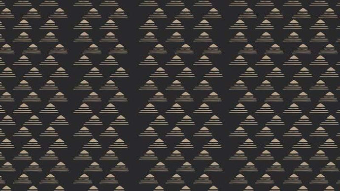 Cotton Fabric In Black And Copper - Grammercy Collection - Christina's Fabrics Online Superstore