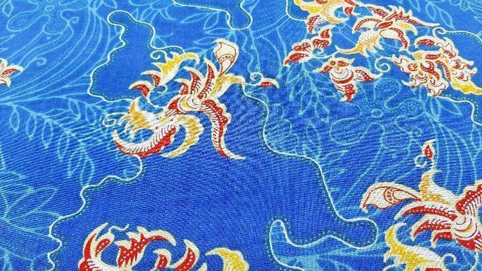 Cotton Fabric | Blue Indonesian Print | Christina's Fabrics - Christina's Fabrics | Online Superstore | Quality Fabrics | Great Prices