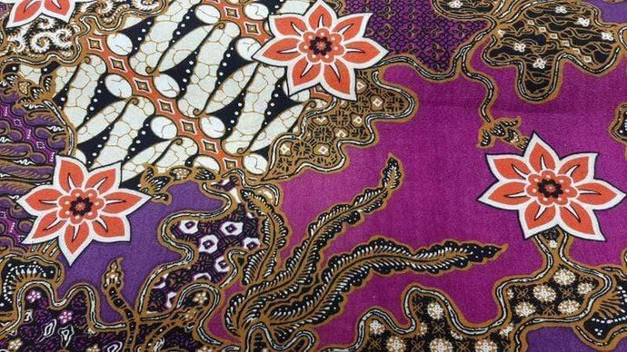 Cotton Fabric Indonesian Print in Purple - Christina's Fabrics Online Superstore