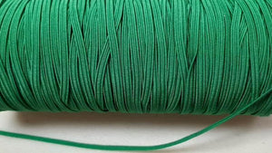 "Elastic Skinny Flat 3 mm 1/8"" - In Green Elastic Christina's Fabrics - Online Superstore"