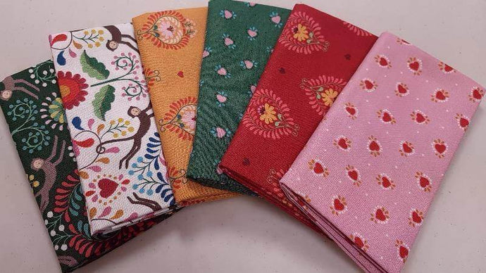 Fat Quarter Bundle (6) - Colorful Pre-Cuts Christina's Fabrics - Online Superstore