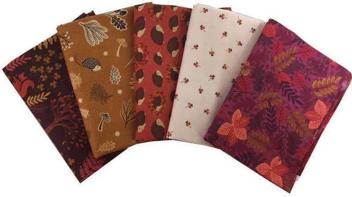 Fat Quarter Bundle - Under The Oak Tree Brown Pre-Cuts Christina's Fabrics - Online Superstore