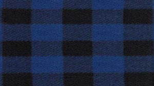 Flannel Brushed Buffalo Plaid In Cobalt Blue And Black  - Christina's Fabrics Online Superstore