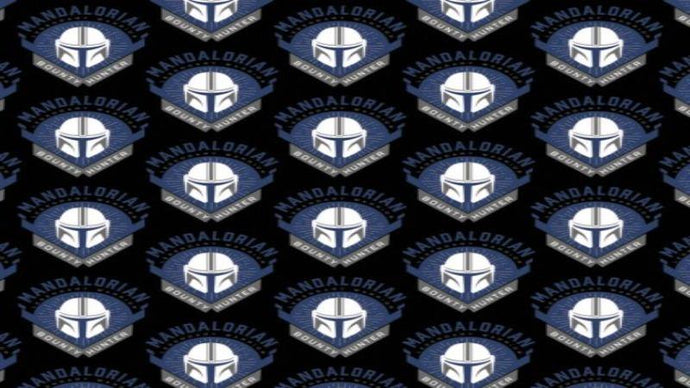 Flannel Fabric In Black Star Wars Mandalorian - Legendary Warrior  - Christina's Fabrics Online Superstore