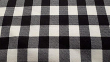 Load image into Gallery viewer, Flannel Fabric In Buffalo Plaid White & Black - Christina's Fabrics Online Superstore