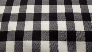 Flannel Fabric In Buffalo Plaid White & Black - Christina's Fabrics Online Superstore