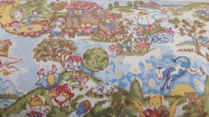 Flannel Fabric Mother Goose Nursery Rhymes - Christina's Fabrics Online Superstore