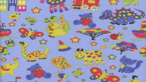 Flannel In Blue Zoo Animals Flannel Prints Christina's Fabrics Online Superstore