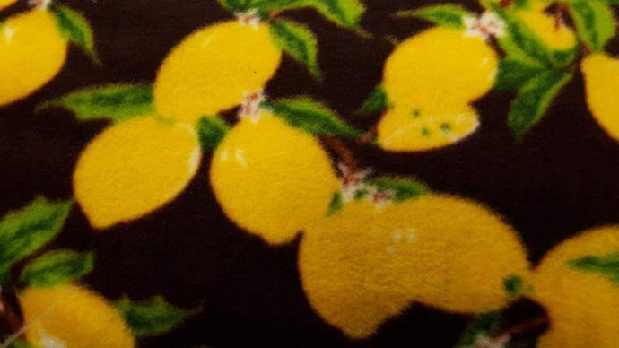 Fleece Fabric In Black with Yellow Pattern Fleece Christina's Fabrics - Online Superstore