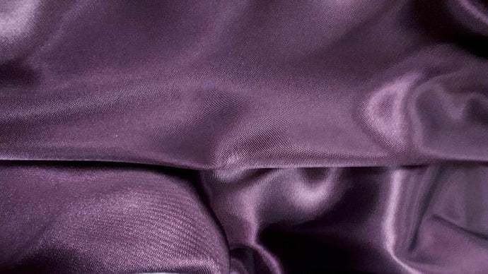 Polyester Bridal Satin Fabric In Eggplant - Christina's Fabrics Online Superstore