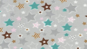Snuggy Flannel In Grey Stars - Children's Prints  - Christina's Fabrics Online Superstore