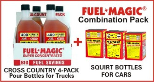 Fuel Magic combo Pack for Trucks/Boats and Cars