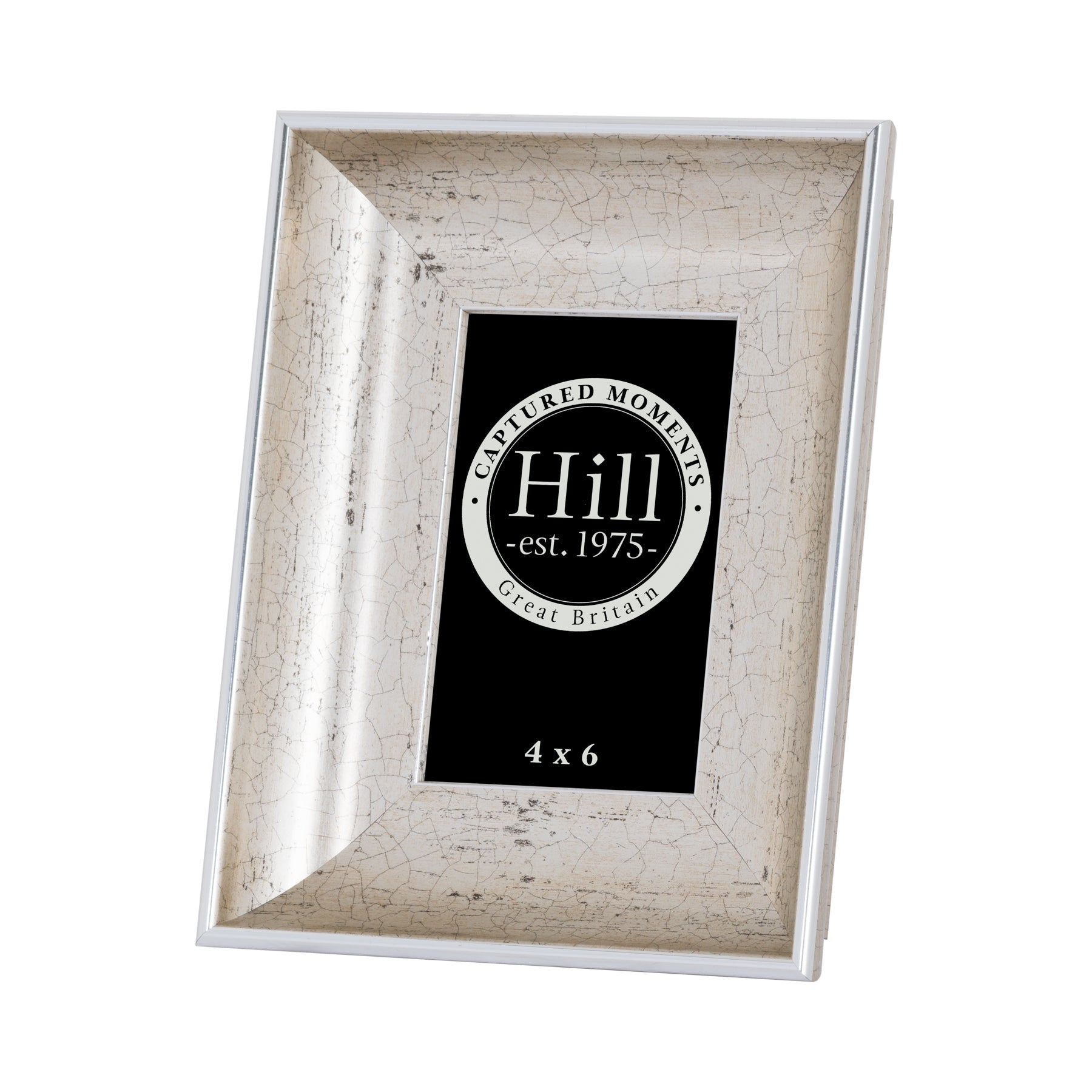 Antique Silver Crackled Effect Photo Frame